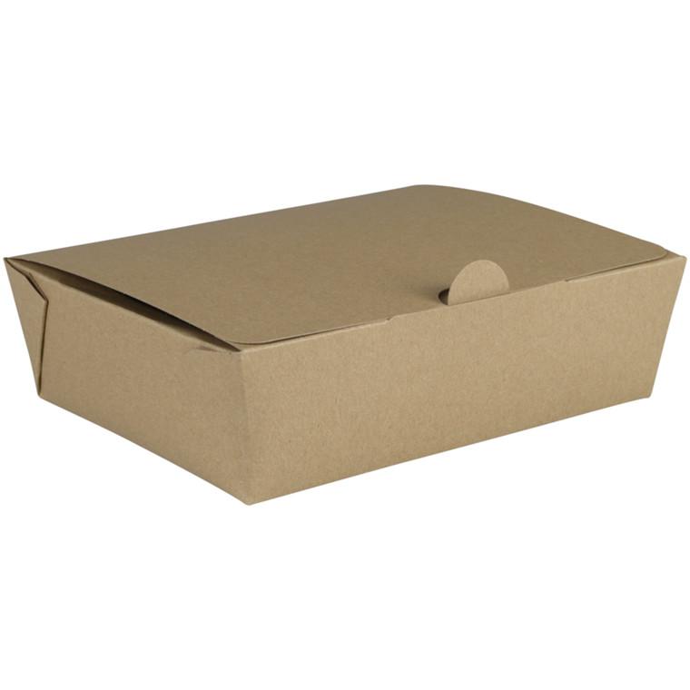 Kinaæske, Detpak, L, 15,7x12,5x4,9cm, 1000 ml, brun