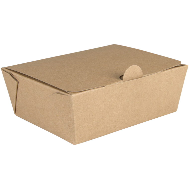 Kinaæske, Detpak, S, 12,5x9,5x4,9cm, 600 ml, brun, PE/karton