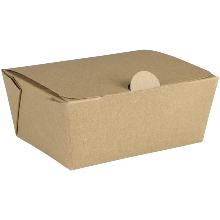 Kinaæske, Detpak, XS, 10,5x7,6x4,9cm, 400 ml, brun, PE/karton