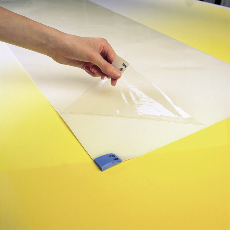 Klæbemåtte, 3M Ultra Clean Economy, klar, 40 ark pr. stk., 60x115 cm