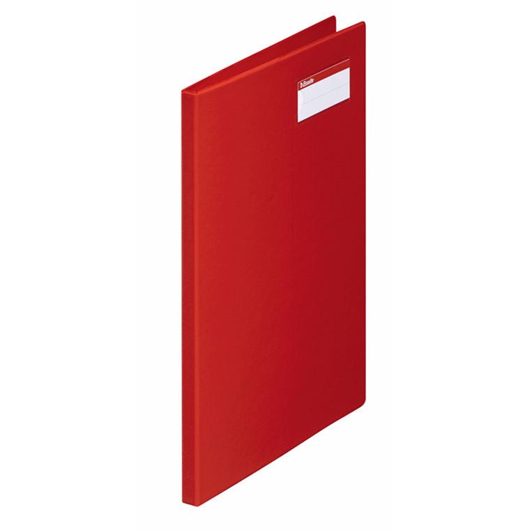 Klemmapper Esselte rød A4 klar lomme