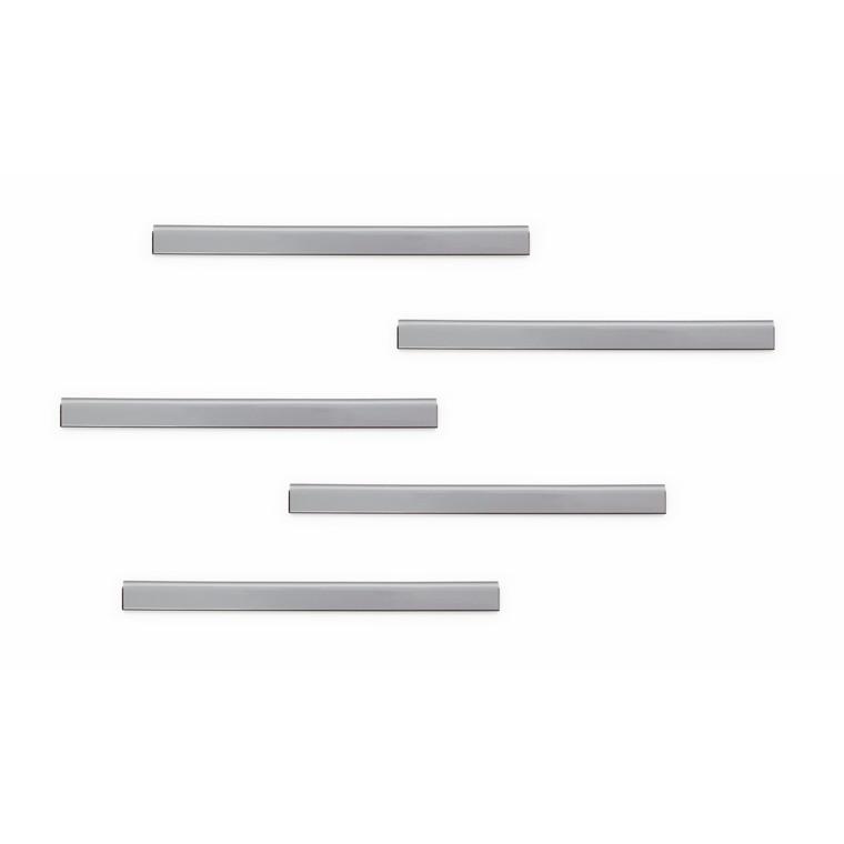 Klemme Durafix clip 60mm bulk sølv 10stk selvklæbende magnetisk