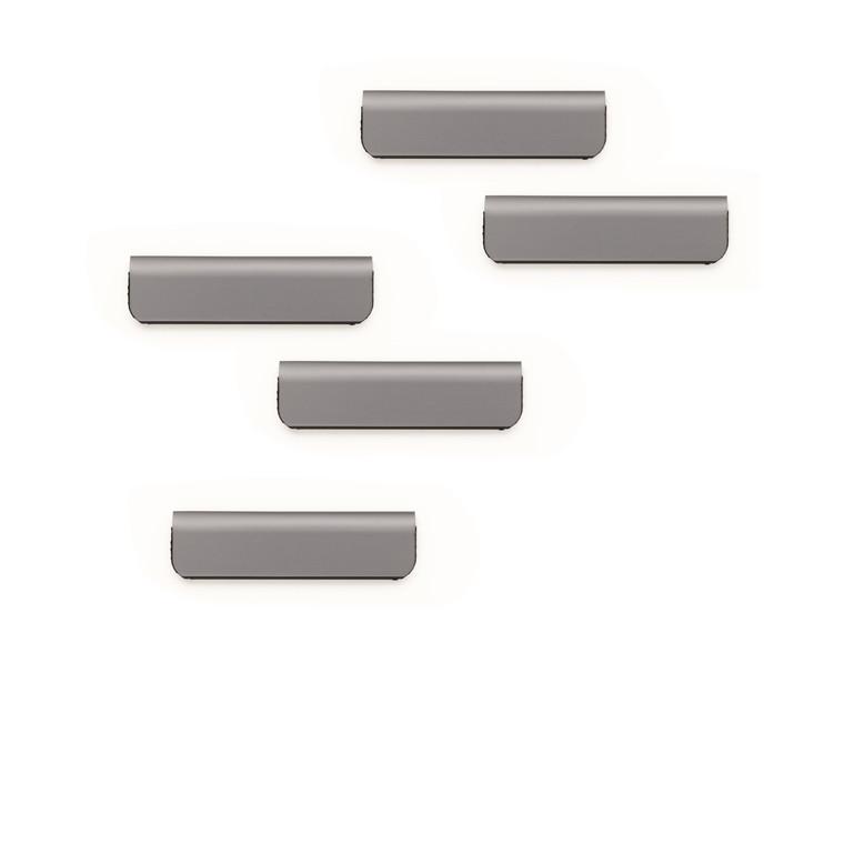 Klemme Durafix clip 60mm 5stk sølv selvklæbende magnetisk
