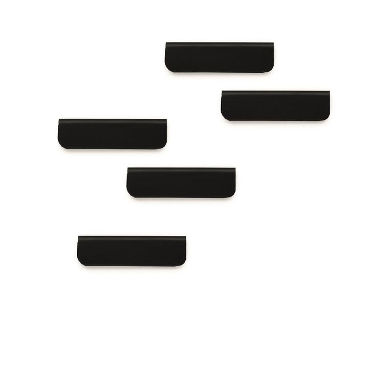 Klemme Durafix clip 60mm 5stk sort selvklæbende magnetisk