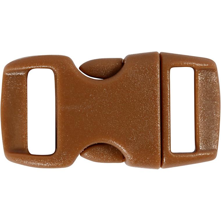 Kliklås, B: 15 mm, L: 29 mm, brun, 4stk.