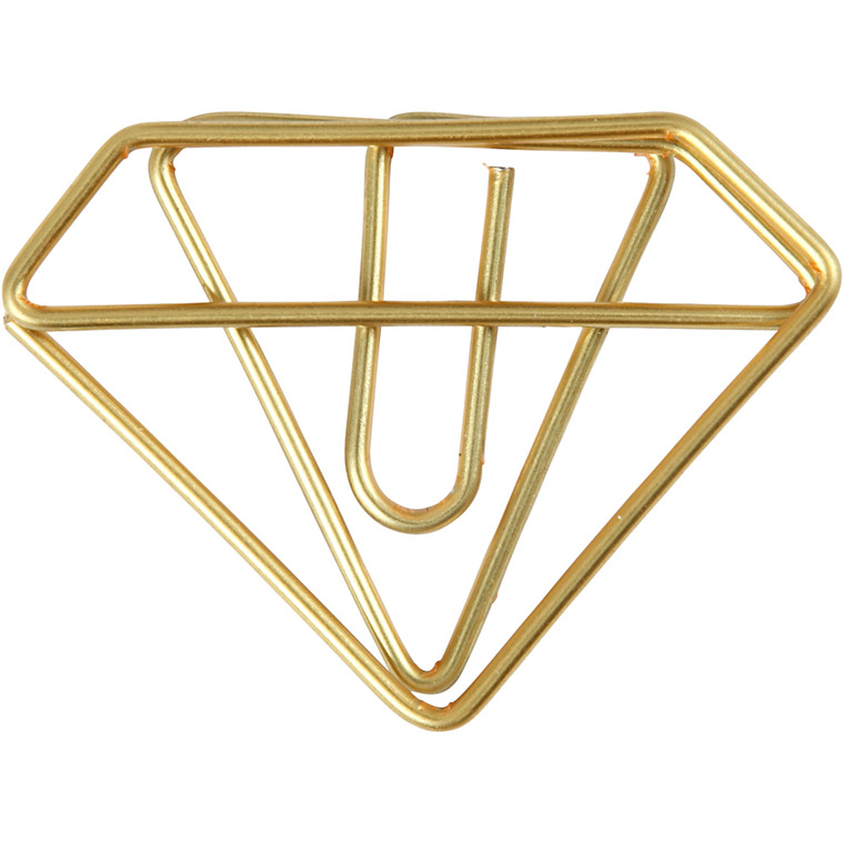 Klips diamant bredde 35 mm højde 25 mm guld | 6 stk.