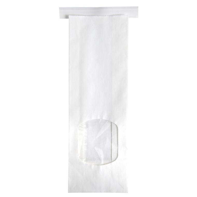 Klodsbundsposer, Detpak, med rude og genluk, hvid, hvid kraft, 250 g