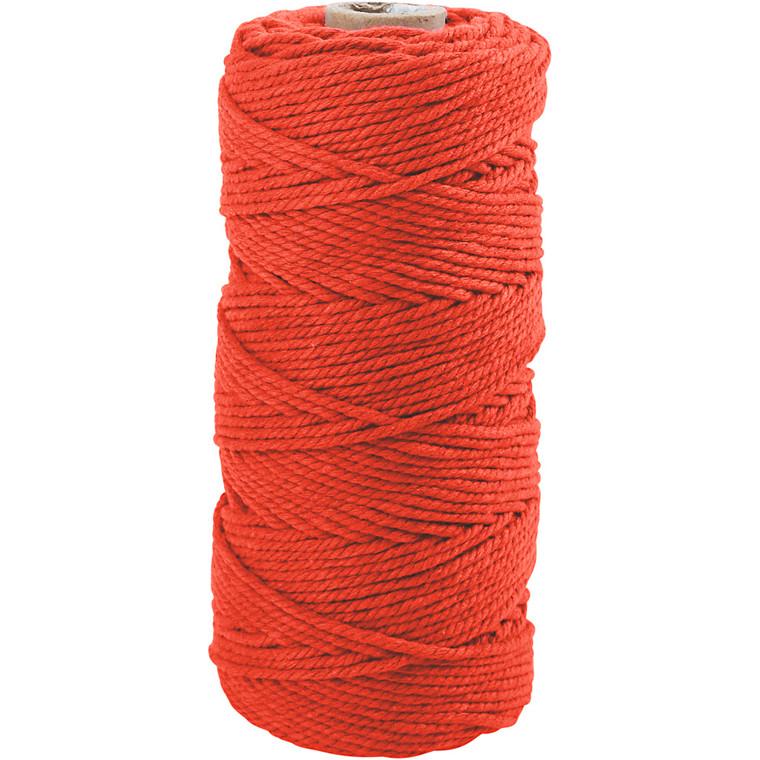 Knyttegarn, L: 120 m, tykkelse 2 mm, orange, Tyk kvalitet 12/36, 250g