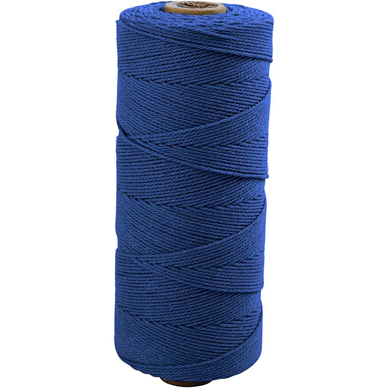 Knyttegarn, L: 320 m, tykkelse 1 mm, blå, Tynd kvalitet 12/12, 250g