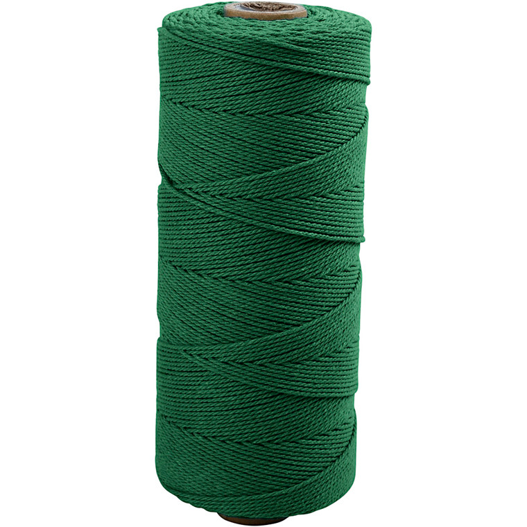 Knyttegarn, L: 320 m, tykkelse 1 mm, grøn, Tynd kvalitet 12/12, 250g