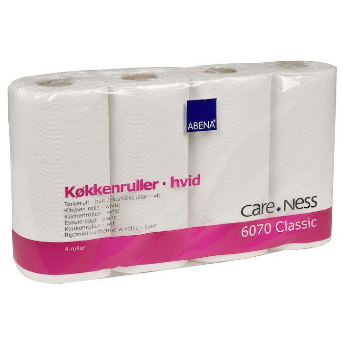 Køkkenrulle Care-Ness Classic 2-lags hvid 22,5 cm x 17,85 meter   70 ark