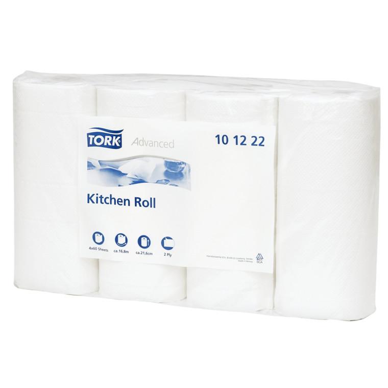 Køkkenrulle Tork Plus 2-lags hvid 21,6 cm x 16,8 meter | 60 ark