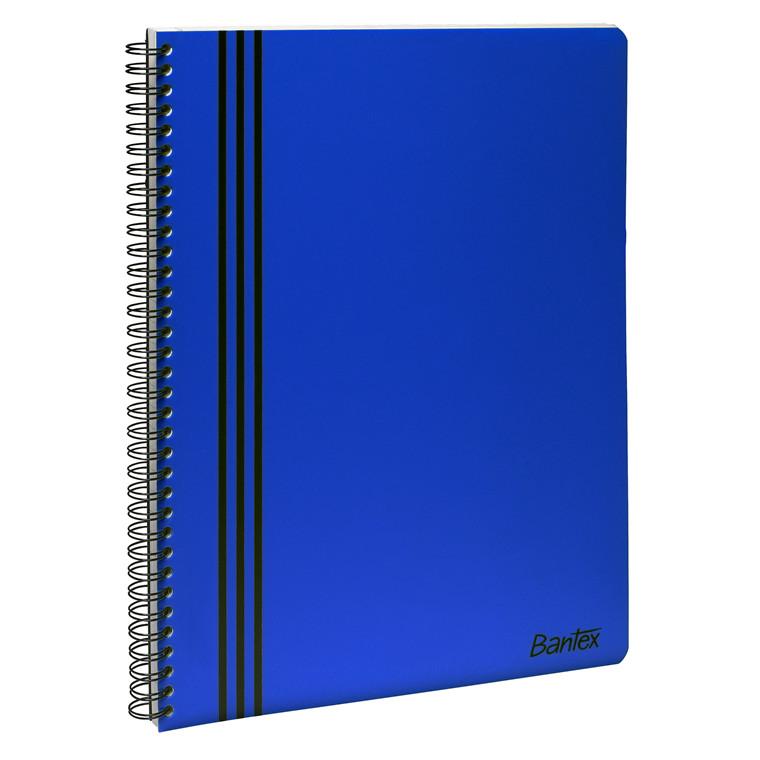 Kollegie blokke - Bantex Strong-Line A4 linjeret blå - 80 sider