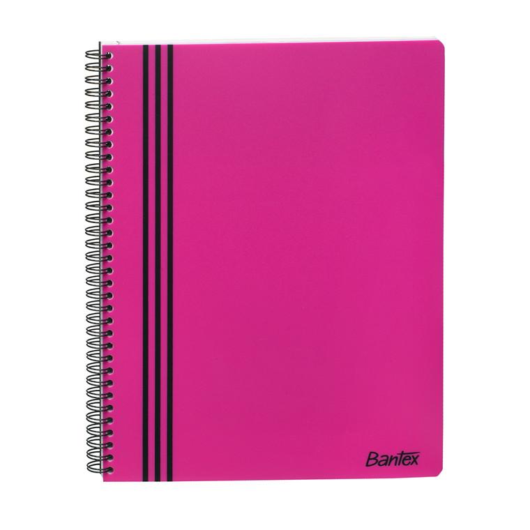 Kollegieblok - Bantex Strong-Line A4 linjeret pink - 80 sider