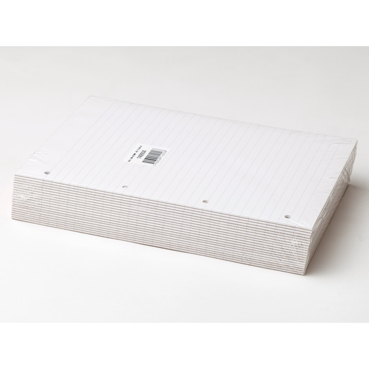 Konferenceblok - A4 linjeret med 4 huller toplimet - 25 ark