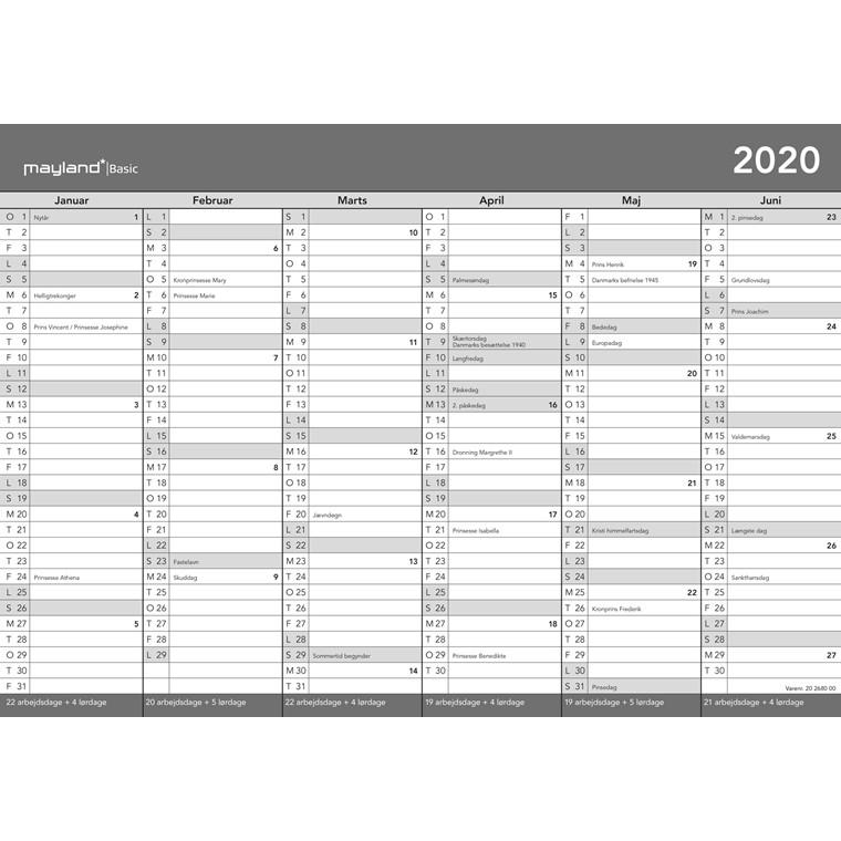 Kontorkalender Basic A4 30x21cm 20 2680 00