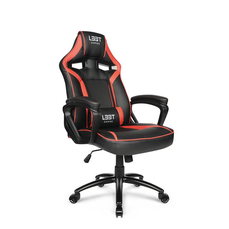 Gamer stol Extreme L33T PU Gaming Mid Level rød sort