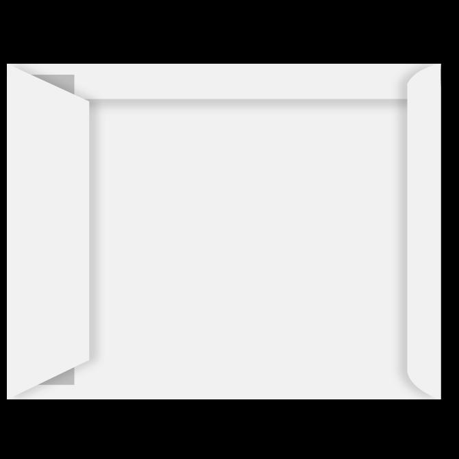 Konvolutter - C4P med rude hvid 229 x 324 mm Peel & Seal 10194  - 500 stk