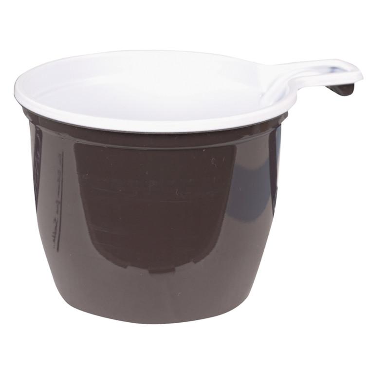 Kop, Gastro-Line, brun/hvid, med hank, polystyren, 18 cl, 20 cl