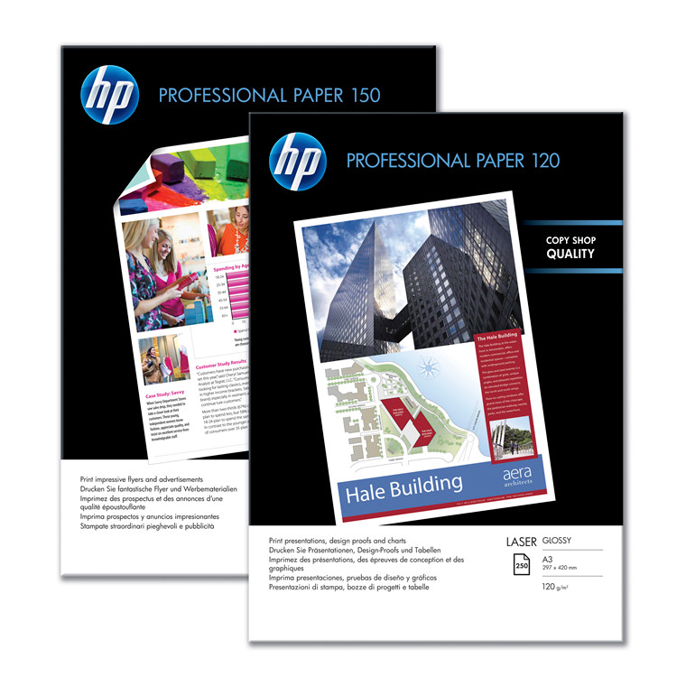 Kopipapir HP Professionel A4 Laser 150g Glossy 150ark/pak