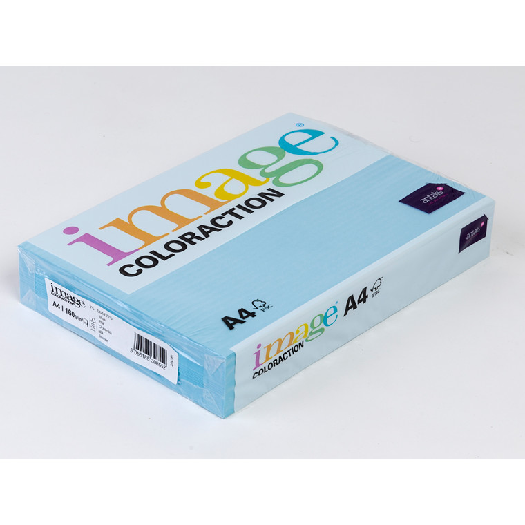Kopipapir Image Coloraction A4 160 gram oceanblå 75 - 250 ark