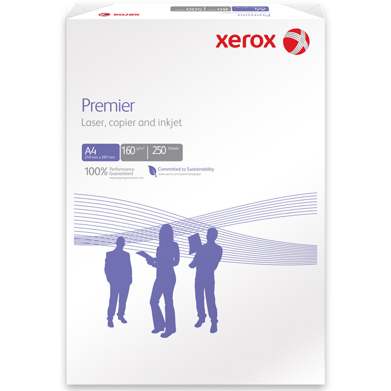 Kopipapir - Xerox Premier 160 gram A4 - 250 ark