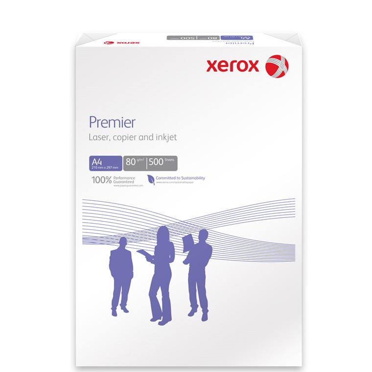 Kopipapir - Xerox Premier 80 gram A4 med 4 huller - 500 ark