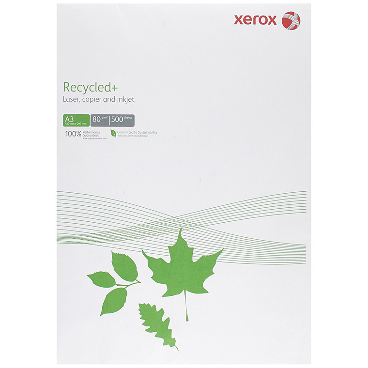 Kopipapir Xerox Recycled+ 80g A3 500ark/pak