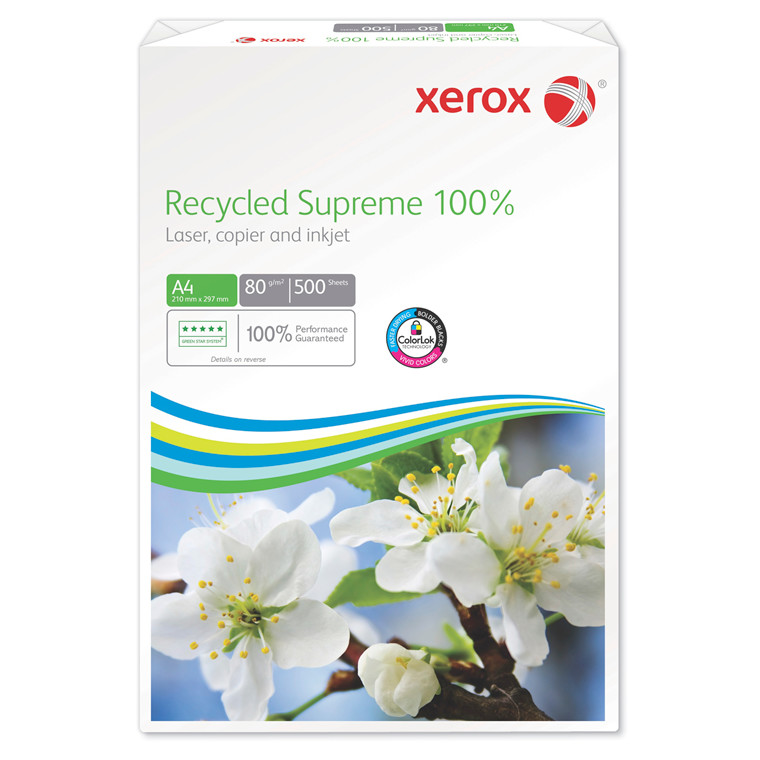 Kopipapir Xerox Recycled Supreme 100% 80g A3 500ark/pak