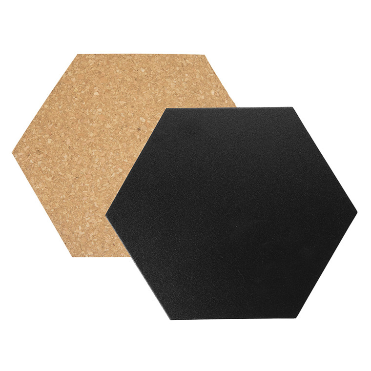 Kork- & chalkboards Hexagon Securit 3+4stk/pak