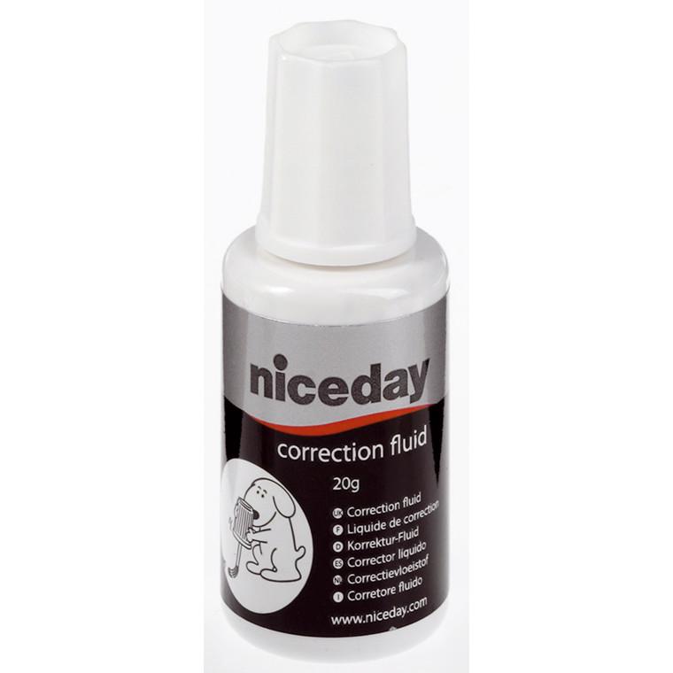 Korrektionslak hvid niceday - Hurtigtørrende 20 ml 815354