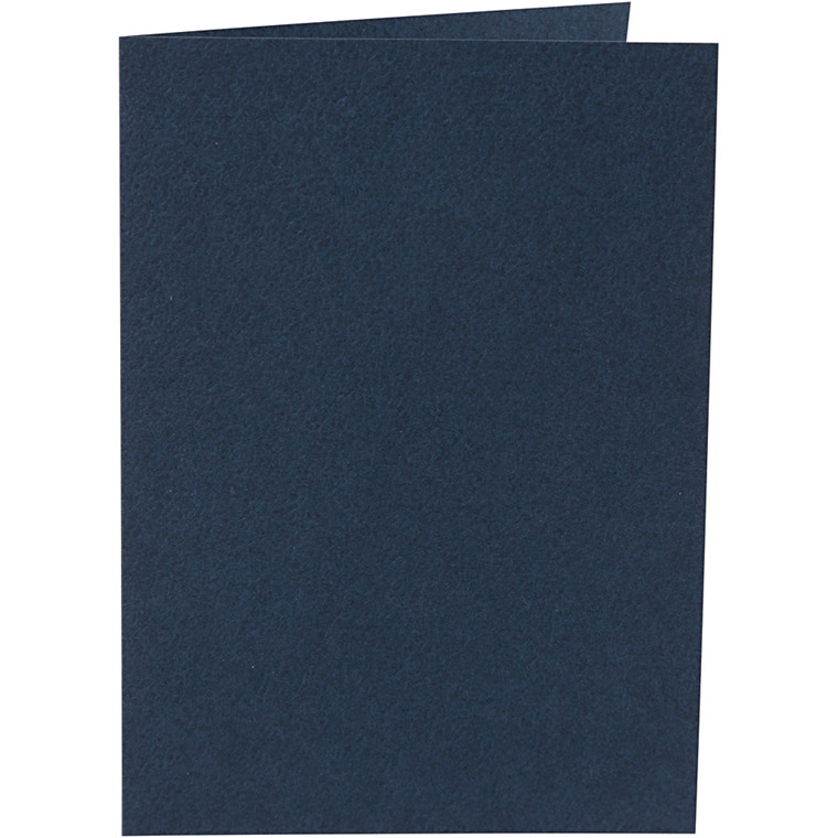 Kort, blå, str. 10,5x15 cm, 220 g, 10stk.