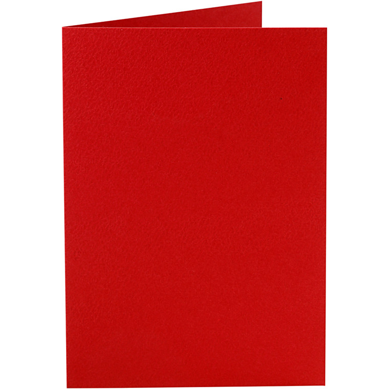 Kort, rød, str. 10,5x15 cm, 220 g, 10stk.
