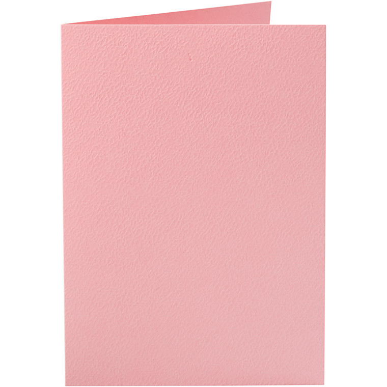 Kort, rosa, str. 10,5x15 cm, 220 g, 10stk.