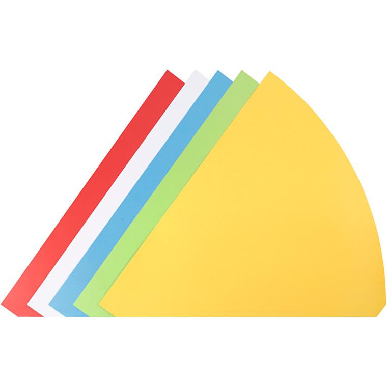 Kræmmerhuse assorterede farver Højde 68 cm diameter 20 cm - 5 stk