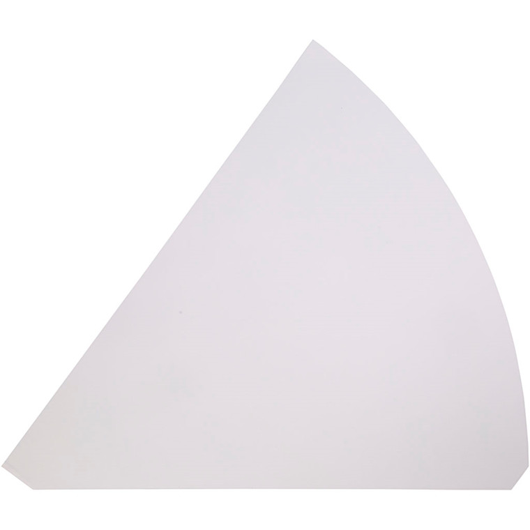 Kræmmerhuse hvid karton Højde 68 cm diameter 20 cm - 5 stk