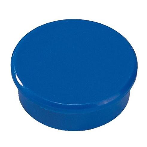 Kraftig magnet - Dahle 38 mm rund blå - 10 stk.