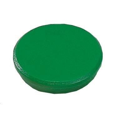 Kraftig magnet - Dahle 38 mm rund grøn - 10 stk.