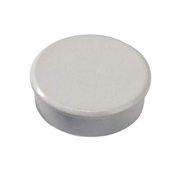 Kraftige Magneter - Dahle 38 mm rund grå bærevne på 2,5 kg. - 10 stk.