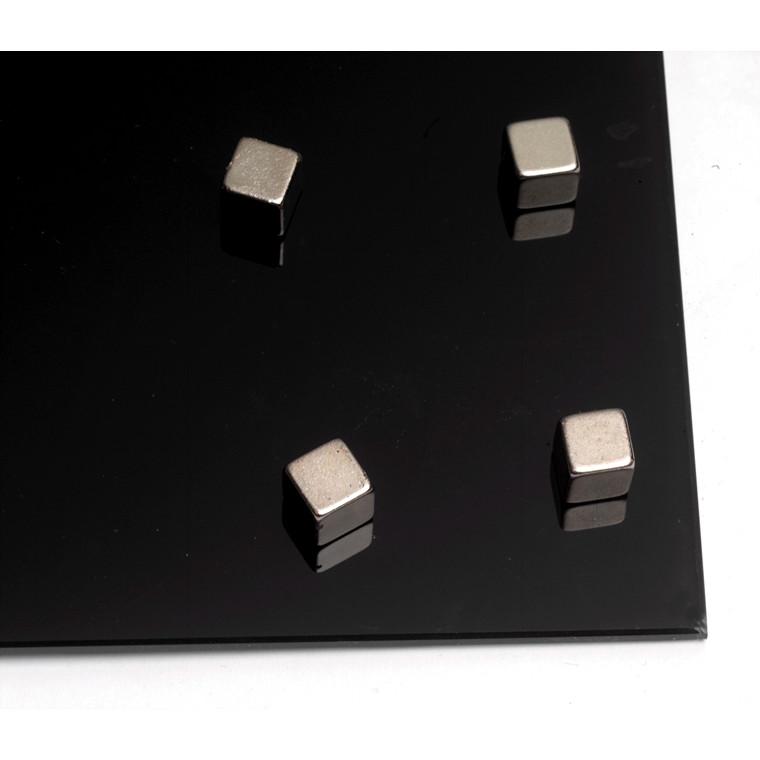 Kragtige Magneter - Naga 20011 firkantede stål 10 x 10 x 10 mm - 4 stk.