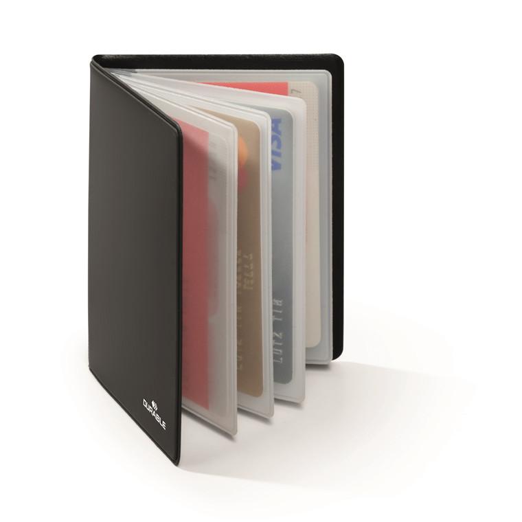 Kreditkortmappe mørkegrå 75x102mm RFID Secure