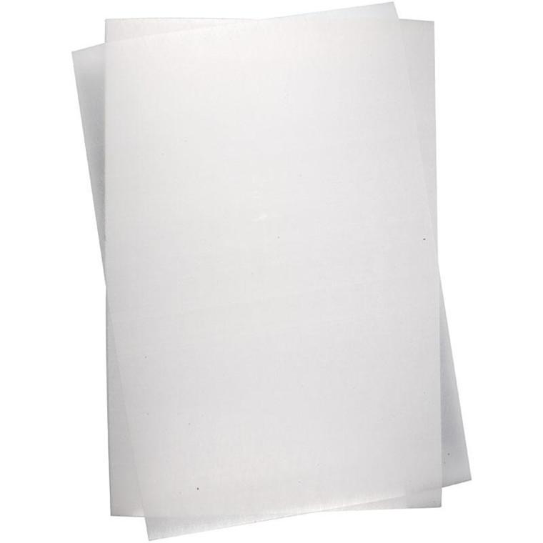 Krympeplast, ark 20x30 cm, blank transparent, 100ark