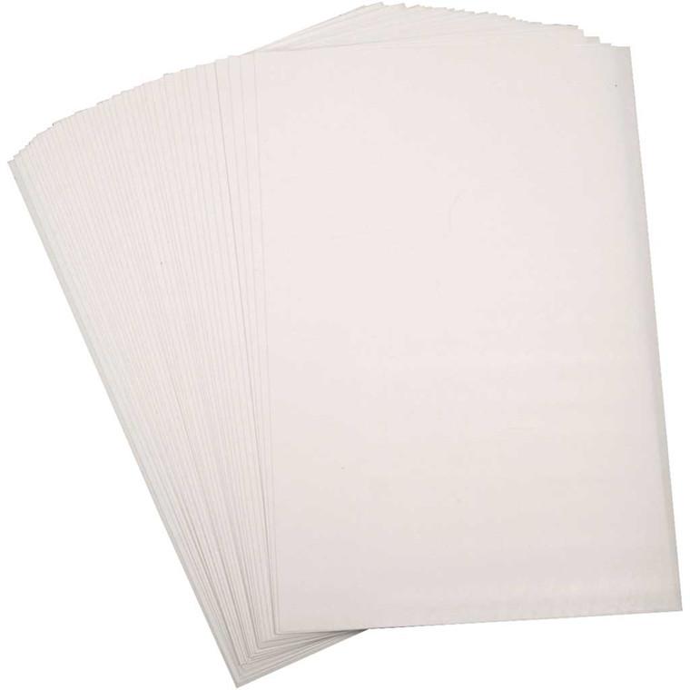 Krympeplast, ark 20x30 cm, mat hvid, 10ark