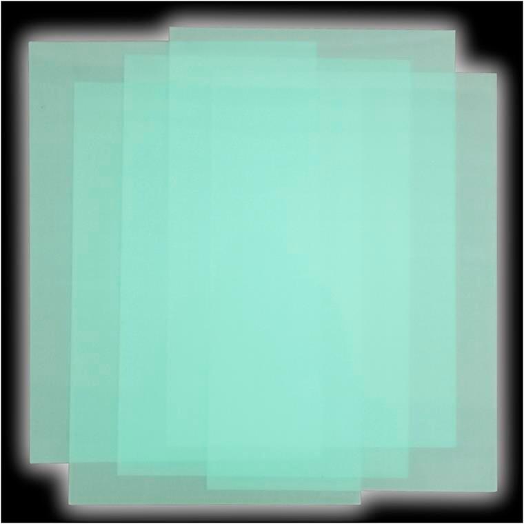 Krympeplast, ark 20x30 cm, glow in the dark, 5ark