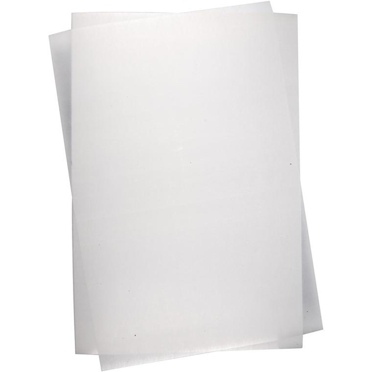 Krympeplast, ark 20x30 cm, mat transparent, 100ark