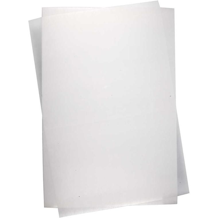 Krympeplast, ark 20x30 cm, mat transparent, 10ark