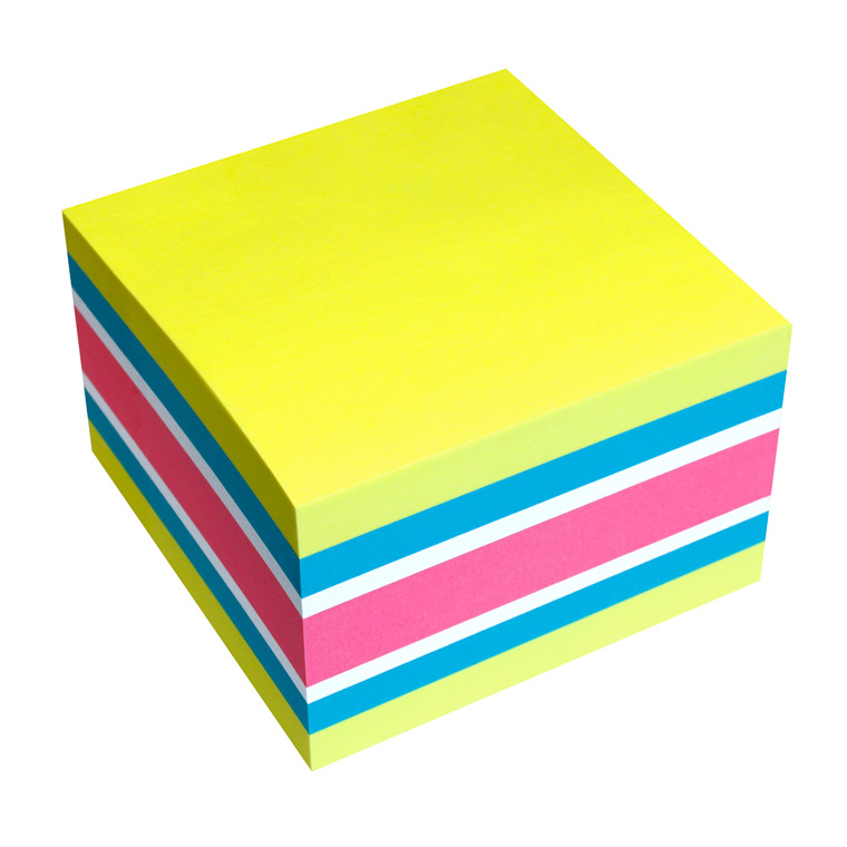 Kubusblok - Info Sticky Color mix 75 x 75 mm  - 450 ark