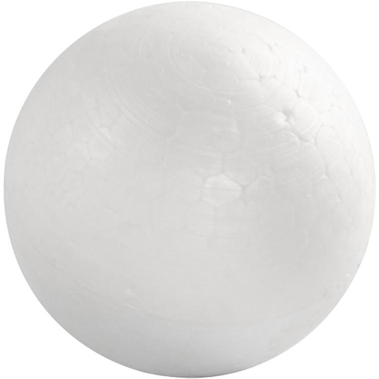 Kugle, diam. 3,5 cm, hvid, 50stk.