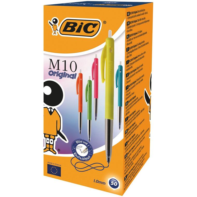 BIC M10 Clic Ultra Colors Kuglepen -  Blå medium 0,4 mm  streg 893582