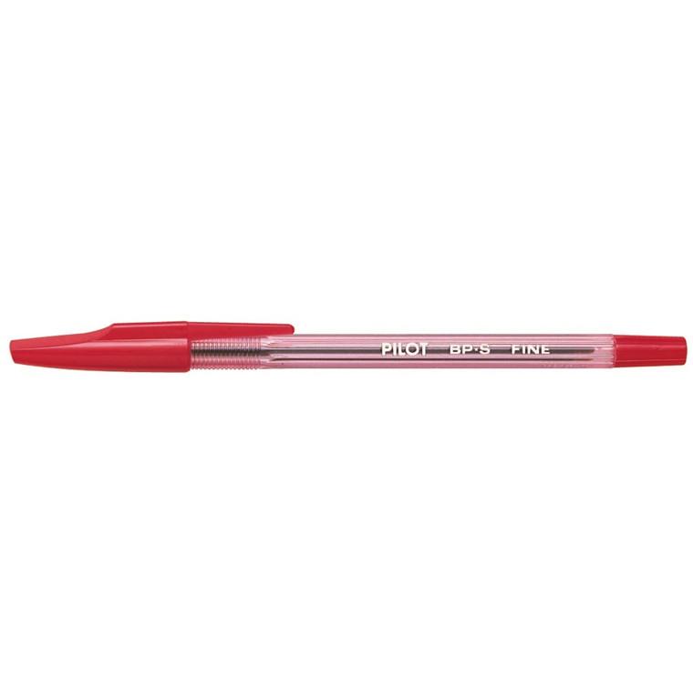 Kuglepen Pilot rød fine m/hætte BP-S